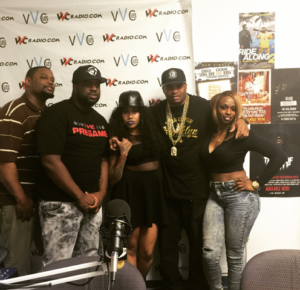 Club Host Bam Bam with The PreGame Show Team