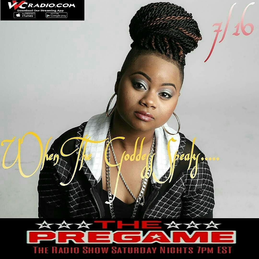 The Pre Game Show 7/16/16: Model Kay Marie, Hip Hop Artist Nefertiitii, Film Maker -Author AmenRa Darby